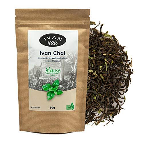 Ivan Chai - Minze | Entspannungstee | Fermentierter Weidenröschen Tee Lose | Premium Qualität |Wild & Handverarbeitet