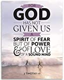 Bible Verse - For God Has Not Give Us Fear - 11x14 Unframed Art Print - Great...