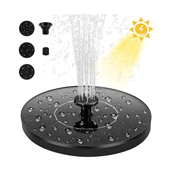 Dustgo bomba de agua solar, bomba de fuente solar, panel solar flotante (con 4 boquillas), utilizado para fuente…