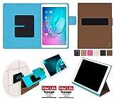 reboon Hülle für Huawei MediaPad T2 10.0 Pro Tasche Cover Case Bumper   in Braun   Testsieger