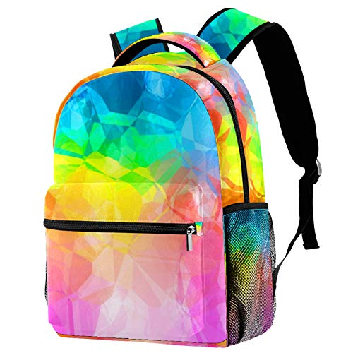 Girls School Bags,Kids Boys Girls,School Backpack Children, Primary Schoolbag,Stylish School Backpack for Boys Girls,Multifunction Rucksack Lightweight Travel Rainbow Color Painting