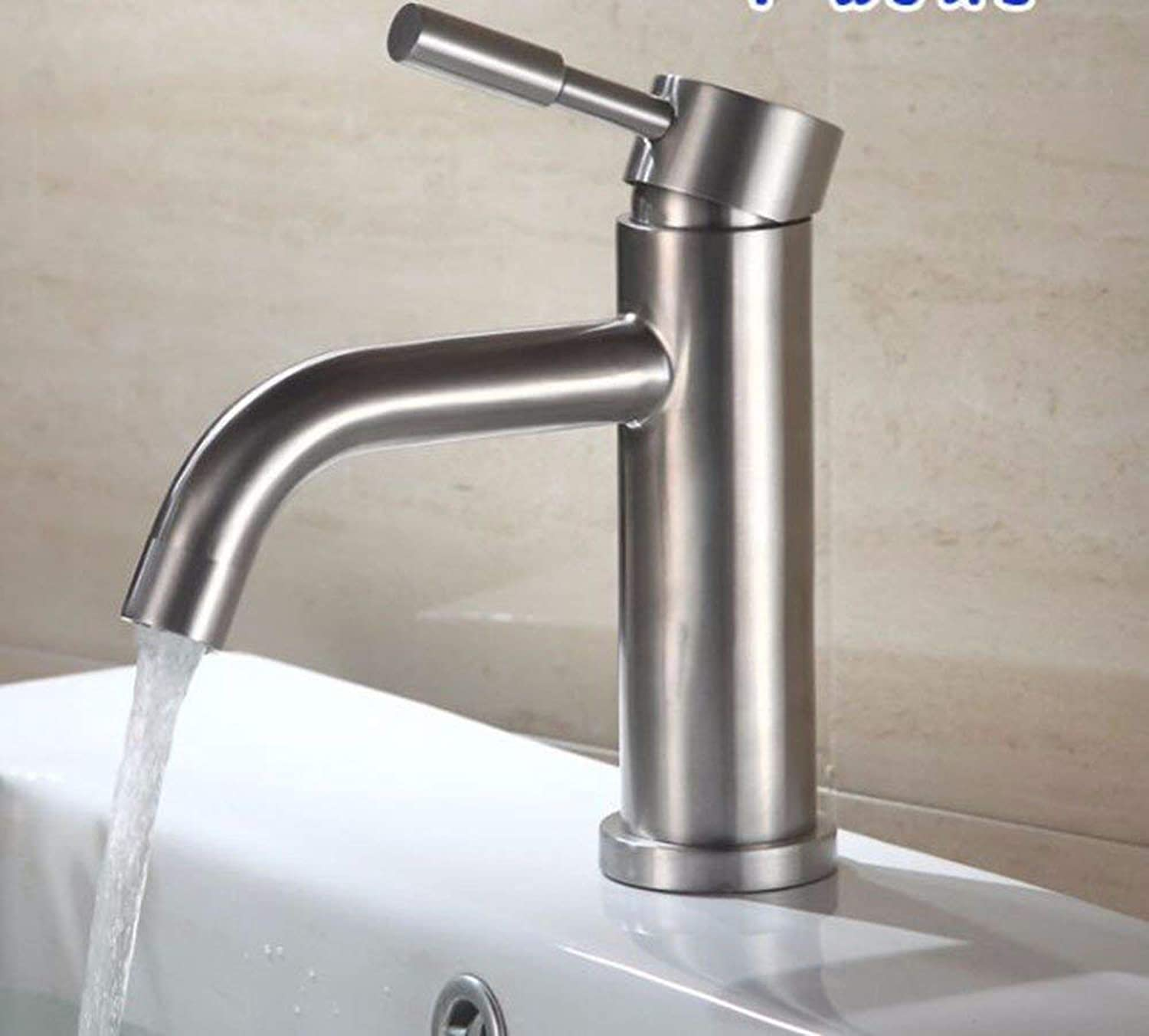 Oudan European style retro style copper hot and cold gold plated sink water taps
