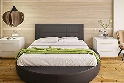 Tapizado en piel ecológica Válido para camas de 135 cm y 150 cm. Color: NEGRO Preparado para colgar en la pared Medidas: ancho: 155 cm; alto: 55 cm; grosor: 3 cm