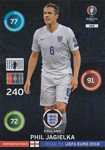 Panini Adrenalyn XL Road to UEFA Euro 2016 – Phil JAGIELKA défensive Rock carte