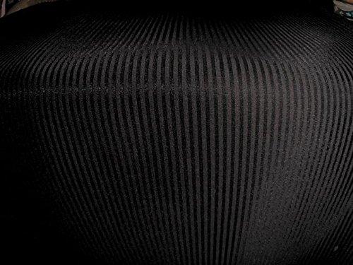 Scuba-Stoff, Neopren, gestreift, 150 cm breit, Meterware, Schwarz
