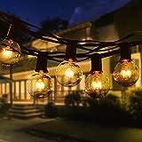 Guirnaldas Luces Exterior, TOGAVE 11M G40 Cadena de Luz Exterior con 30 Bombillas y 5 Bombilla de Repuesto IP44 Impermeable Cadena de Luces Decoraciones para Boda, Partido,Jardín - Blanco Cálido
