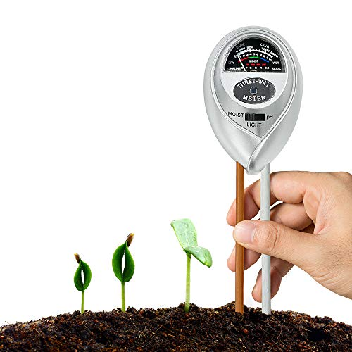 Best Buy! XLUX Soil Test Meter Kit for Moisture, Light & pH, for Home and Garden, Lawn, Farm, Plants, Herbs & Gardening Tools Plant Care