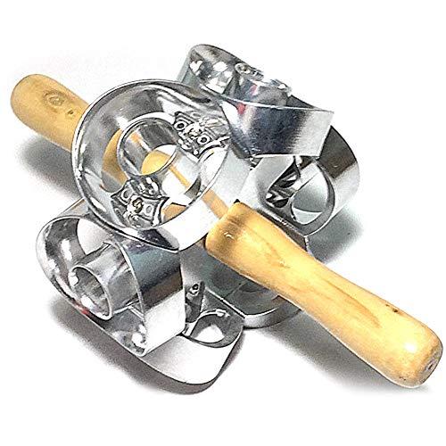 Molde para rosquillas de metal, acero y madera para utensilios de cocina