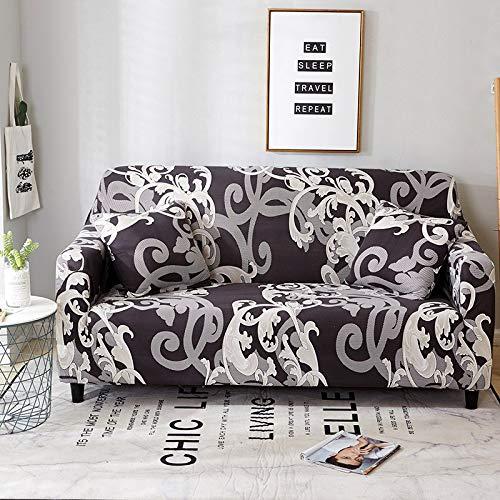 WXQY Funda de sofá geométrica Floral para Sala de Estar Funda de sofá elástica en Forma de L Funda de sillón de Esquina Funda de sofá Funda de Muebles A7 1 Plaza