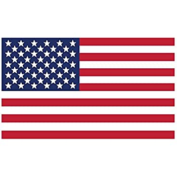 "American Flag Vinyl Window Sticker Decal  3/""x 5/""  USA  Lot of 2 NEW"