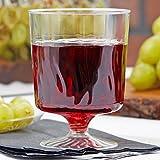 Elegante Weingläser / Dessertbecher aus Kunststoff, gewellt, 220 ml, 10 Stück