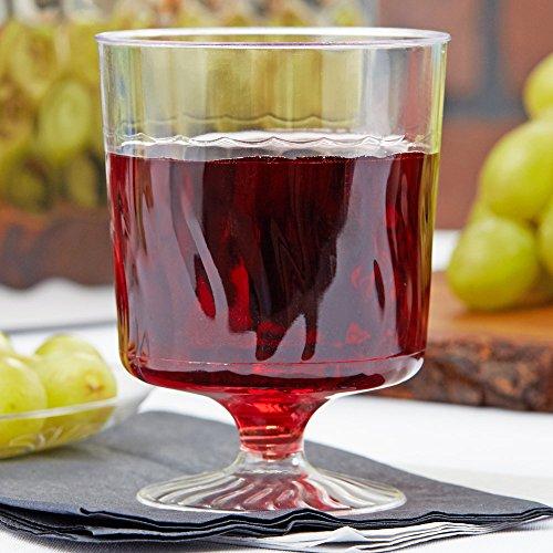 Elegante Weingläser aus Kunststoff, gewellt, wiederverwendbar, 220 ml, 10 Stück