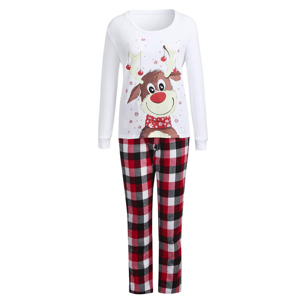 Mommy, L Clothes Outfit Girls XGao Christmas Pajamas 2Pcs Kid Merry Christmas Pajamas Baby Boys Cartoon Deer Print Tops Pants Family Sleepwear Matching Sets Xmas Set Children Kids Top
