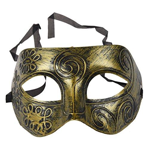 RETYLY Maenner Erwachsene Masquerade Griechische Roemische Gesichtsmaske Fuer Abendkleid Maskenball Golden