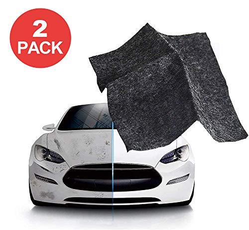 Nano Magic Tuch für Auto Kratzer Reparatur (2 Stück),Auto Kratzer Entferner,Mehrzweck Autolack Poliertuch,zur Reparatur von leichten Kratzfarben Und Wasserflecken,Autoreinigung, Nanotechnologie