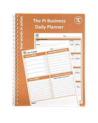 Pi A4 Business Daily Planner & Meeting Notes Organiser