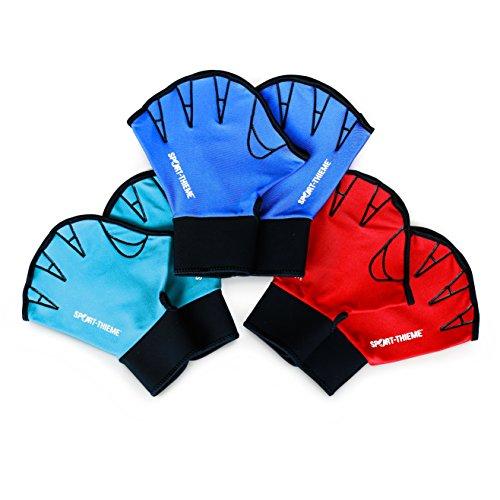 Sport-Thieme Aquafitness-Handschuhe aus Neopren | Hochwertige Schwimmhandschuhe für Aqua-Fitness, Aqua-Jogging, Wassergymnastik | In S, M, L | Blau, Rot, Türkis | Markenqualität