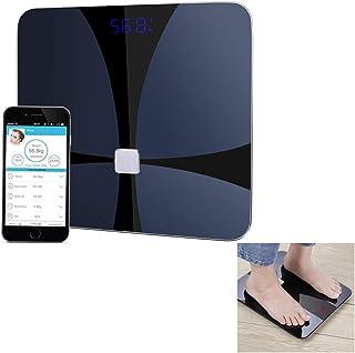 ZZYYZZ Básculas digitales Bluetooth analizador de Grasa Corporal, analizador de composición Corporal de la Escala de Peso de baño Digital con iOS y aplicación de Android
