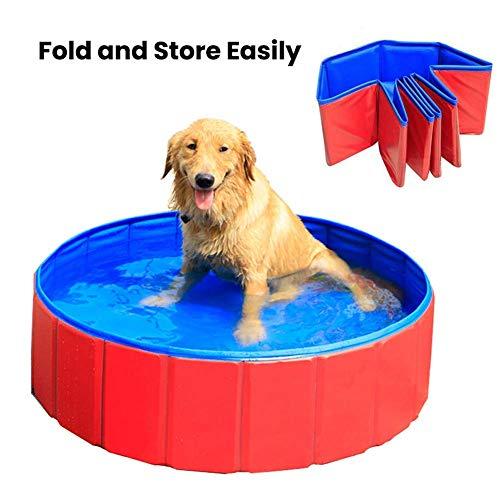 YXYOL Portable del PVC Piscina Baño Cubo, de niños al Aire Libre Juguete de la Piscina, Plegable Perro Tina de baño, Medianas y Grandes Perros de baño Bañera de hidromasaje,S