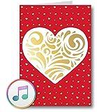 PlayMegram Biglietto di auguri audio con porta USB e memoria da 128 MB, musica propria o messaggio vocale, biglietto d'auguri, biglietto di auguri creativo
