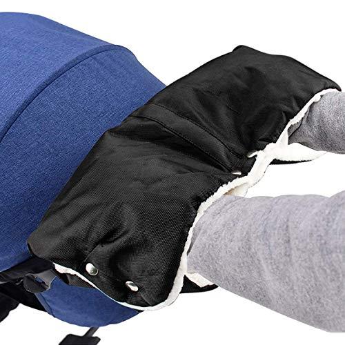 Kinderwagen Handwärmer, Mture Kinderwagen Handschuhe mit Warme Fleece und Baumwolle Innenseite, Wasserdicht und Winddicht Stroller Universalgröße für Kinderwagen, Buggy, Radanhänger