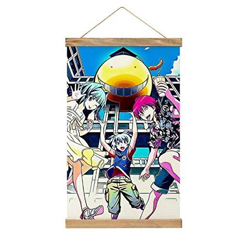 WPQL Lienzo de alta calidad para colgar un cuadro, anime Assassination Classroom Koro-sensei, póster Nagisa, mural de lienzo moderno, mural de póster, fácil de instalar, 33.1 x 50.4 cm.