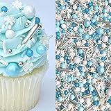 Sprinkles | Frozen in Sugar Sprinkle Mix | Blue Sprinkles | Confetti Sprinkles | Metallic Sprinkles | Snowflake Sprinkles | Cake Sprinkles (4 ounce bag)