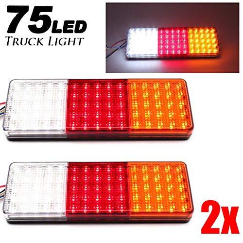 2pcs 12-24v 75 LED feux arrière Ute remorque caravane camion arrêt du bateau indicateur de bateau