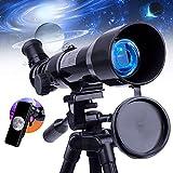 telescopio per bambini principianti adulti-upchase telescopio astronomico 360/50mm treppiede regolabile e zaino, compleanno o regalo di natale