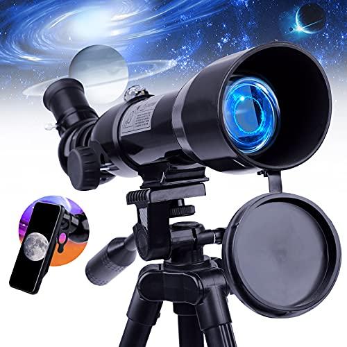 Telescopio per bambini principianti adulti-Upchase Telescopio Astronomico 360 50MM Treppiede Regolabile e Zaino, Compleanno o Regalo di Natale