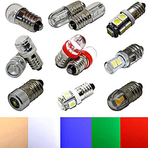 E10 LED 6V - Lampe Birne Schraubsockel Sparlampe Niedervolt (weiß, u.a. Herrnhuter Stern 303 (10x29mm))