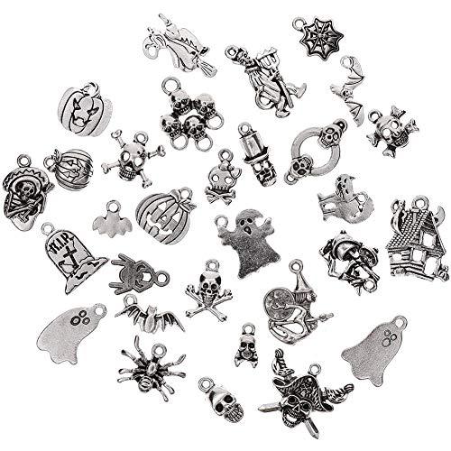 Juanya 30 Pcs/Set DIY Antique Mixed Styles Charm Pendants Jewelry for Necklace Bracelet Craft Making Ideal 1