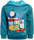 Nickelodeon Boy's Fleece Pullover Hoodie with Thomas The Train Theme Graphics (Toddler/Little Kid), Light Blue, Size 3T