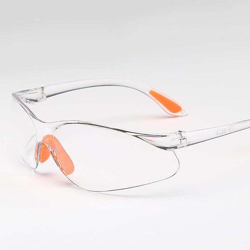 保護メガネ ゴーグル セイフティーメガネ クリアー 耐性UV 耐衝撃 強化レンズ使用 米軍規格合格品 バイク 自転車 花粉症対応 男性用および女性用