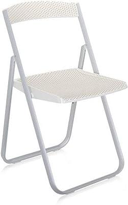 Kartell Honeycomb 4818E5 - Sedia pieghevole, Colore: Bianco Lucido