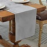 Balcony&Falcon Camino de mesa de terciopelo moderno, lavable, elegante,...
