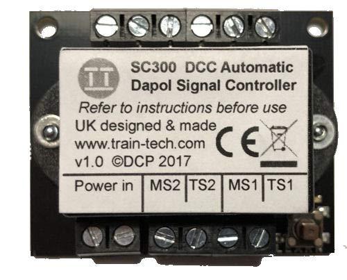Train Tech SC300 DCC Signal Controller - Dual Dapol Semaphore w/Inputs