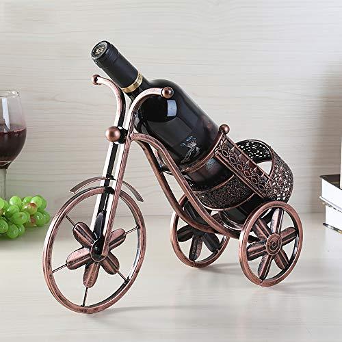 MUYIER Bureau Wine Rack, Simplicité Moderne Aucun Assemblage Requis Creative Tricycle Wine Rack pour Cave À Vin/Bar/sous-Sol/Armoire