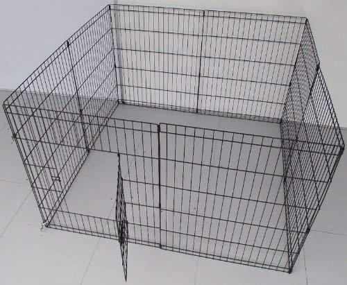 BUNNY BUSINESS Gehege für Kaninchen/Meerschweinchen/Hunde/Katzen, 8 Zaunelemente, klein, silberfarben - 3