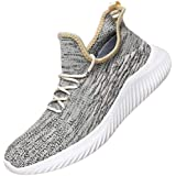 WsDebutting Men's Casual Running Shoes Fashion Slip on Lightweight Sneakers Outdoor Walk Shoes for Men Gold Size 11