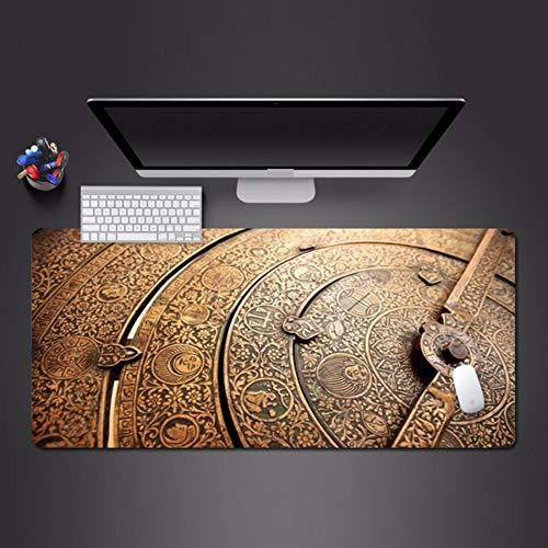 Edle retro uhr mauspad sperrkante waschbar spiel mousepad computer gamer professionelle spiel pad beste weihnachtsgeschenke 700 * 300 * 3mm