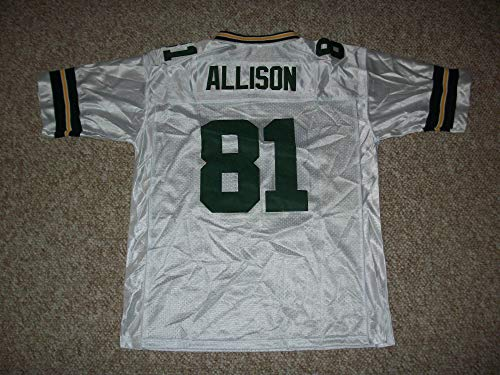 Unsigned Allison #81 Green Bay Custom Stitched White Football Jersey Various Sizes New No Brands/Logos (2XL)