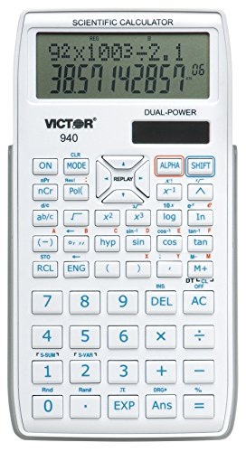 Victor 940 10-Digit Advanced Scientific Calculator with 2 Line Display, Battery...