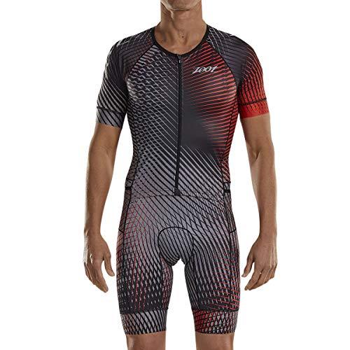 Zoot Combinaison de Course de Triathlon pour Hommes Style Stoke avec Manche, Rembourrage du siège, éléments réfléchissants, SPF 50+, Trois Poches arrière et Fermeture éclair à l'avant Taille XXL