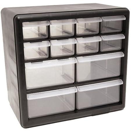 26 Plastic Cabinet Drawers Bins Garage Tools Parts Organizer Large Storage Boxes