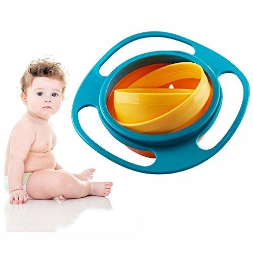 Gearmax® Universal Gyro Bowl Kinder dreht Sich des Kreisels Baby 360 Drehen Schüssel Gyroskop Flying Disk Schalen mit Deckel