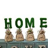 Escomdp Casa Decorazione Artificiale Arte topiaria piñata Set di 4 Lettere Home