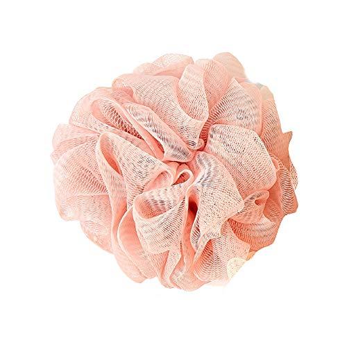 フラワーボール 泡立てネット ボディウォッシュボール 花ボディースポンジ 風呂 メッシュ バスボール 泡立ち 角質除去 (ピンク)