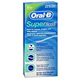 Oral B Oral-B Super Floss Mint - Hilo dental pre-cortado 50 Ea (paquete de 18)