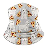Pizza Food Westie West Highland Terrier Dog Microfiber Neck And Leg Guardsseamless Face Maskmouth Coverturbanmultifunctional Headwear